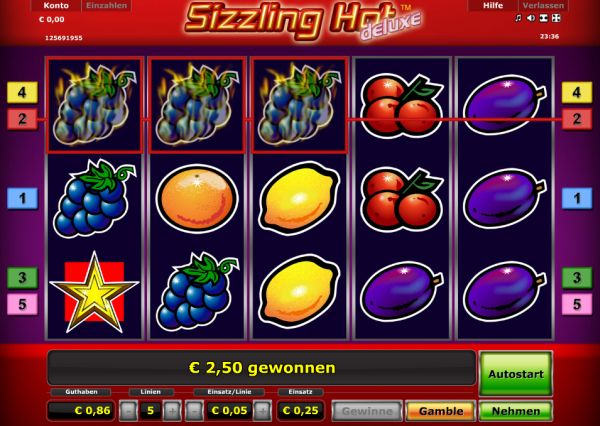online casino list sizzling hot spielen